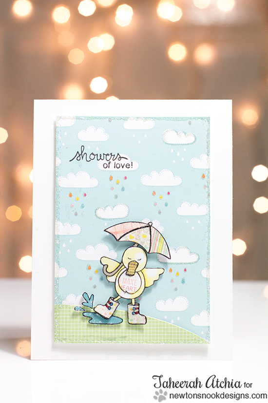 Cute duck card by Taheerah Atchia for Newton's Nook Designs!