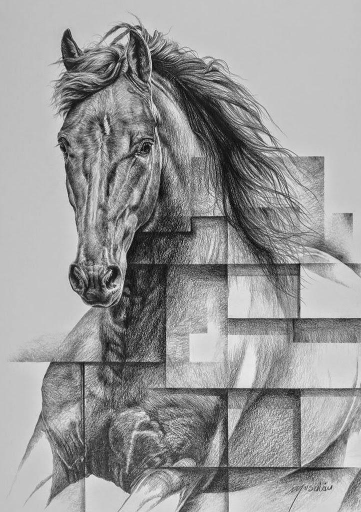 cuadros-de-caballos-hechos-con-lapiz