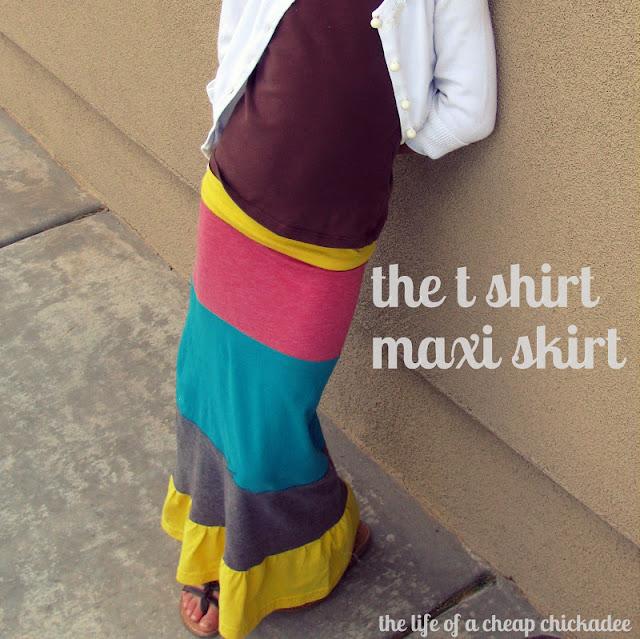 the of a cheap chickadee the t shirt maxi skirt