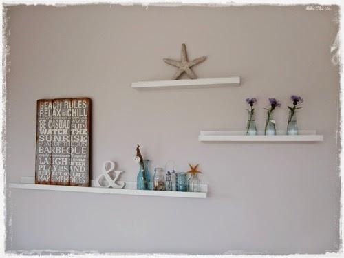 Wohnzimmer beach house Bilderleisten