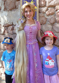 example of narrtive story in Rapunzel with long hair