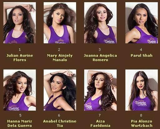 Bb. Pilipinas 2014 candidates