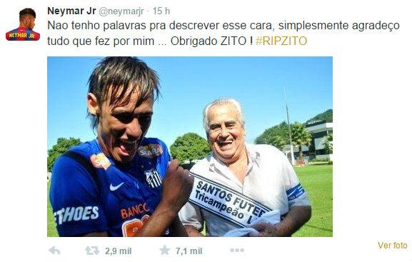 Neymar homenagem a Zito