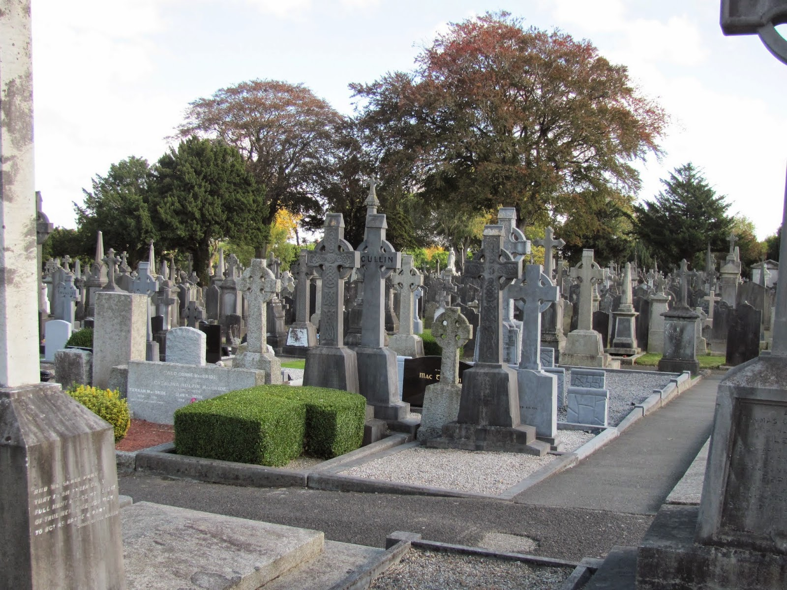 Graves at Glasnevin Cemetery Dublin