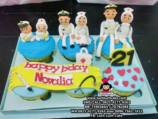 Cupcake Angkatan Laut dan Bidan Daerah Surabaya - Sidoarjo