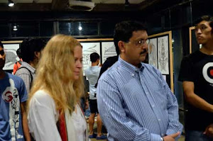 Inaugeration of Exhibition of Pardhan Gond Paintings, at NID