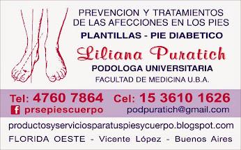 Podóloga UBA - Liliana Puratich - podpuratich@gmail.com