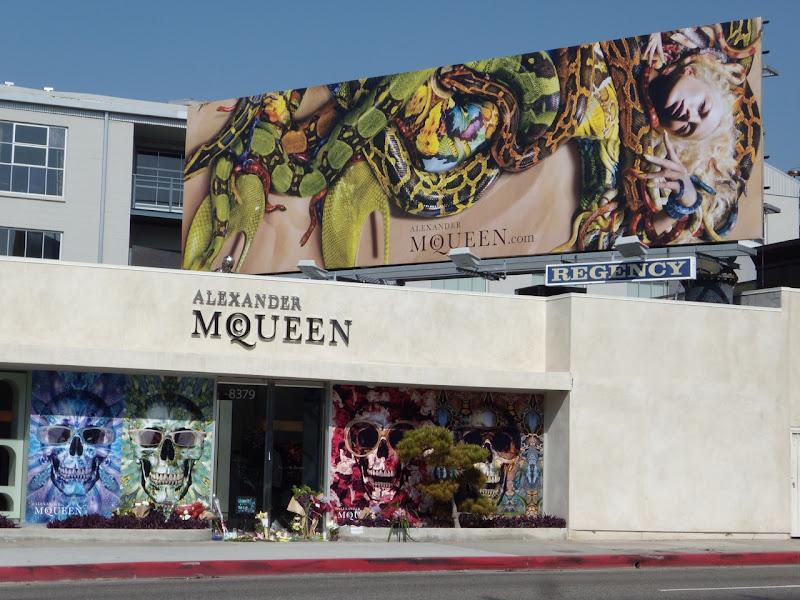 Alexander McQueen snake billboard