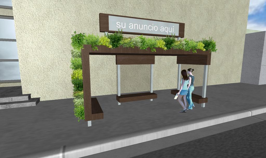 Parabus Ecologico - Minimalist 1 - Con Jardin Vertical y Colgante - Zen Ambient - Mexico