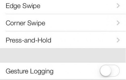 iOS 7 Gesture trick
