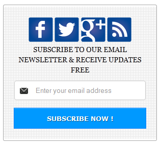 Social Subscription Widget Blue Color for Blogger