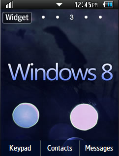General Latest Windows 8 Samsung Corby 2 Theme Wallpaper