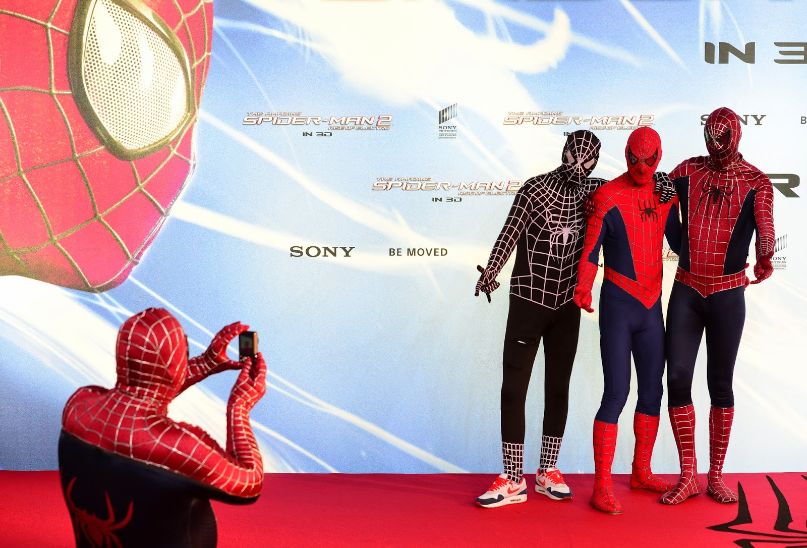 Amazing Spiderman, Amazing Spiderman 2, Andrew Garfield, Berlin, Dane DeHaan, Emma Stone, Entertainment, Germany, Hollywood, Jamie Foxx, Marc Webb, Matthew Tolmach, Movie Premiere, Movies, Rise of Electro, Showbiz,