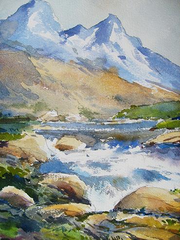 Blog de pintura acuarela for Pintura para pintar piedra natural