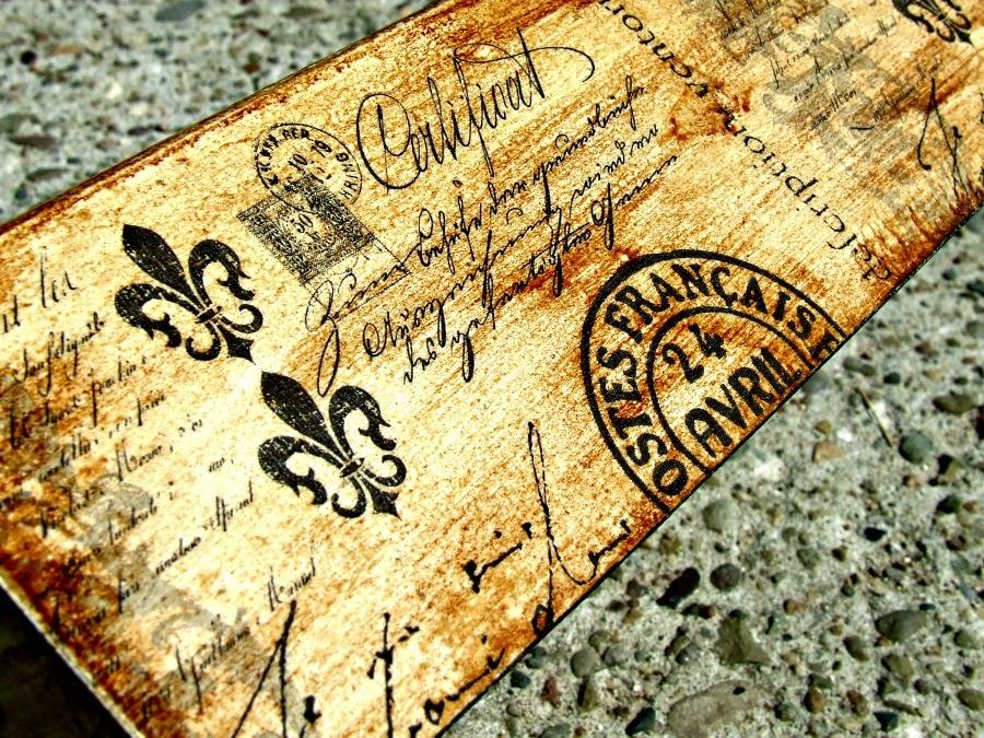 zegar i chustecznik vintage z motywem motyla. Zegar i chustecznik decoupage postarzany Eco Manufaktura