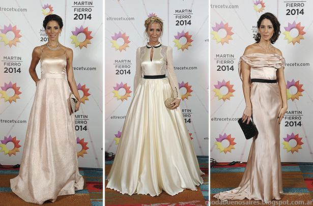 Fabian Zitta vestidos de fiesta, Looks Martin FIerro 2014.