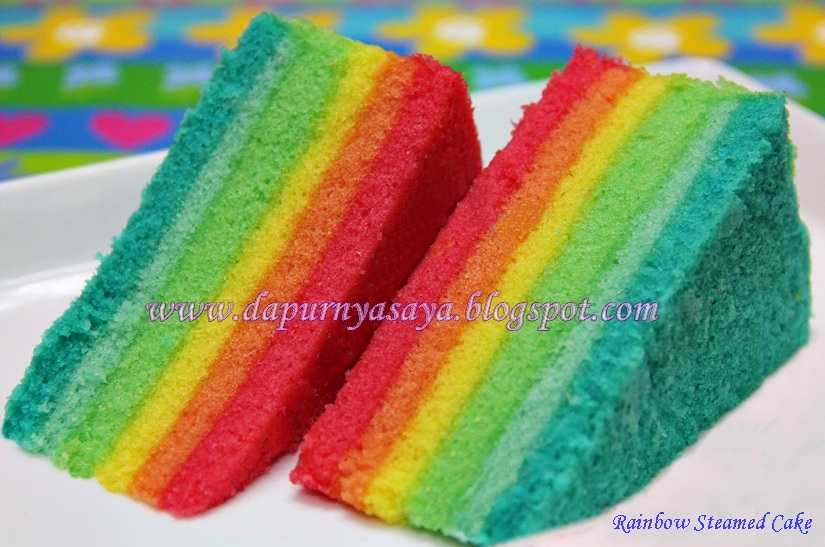 Cara Buat Rainbow Cake