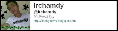 my twitter @irchamdy