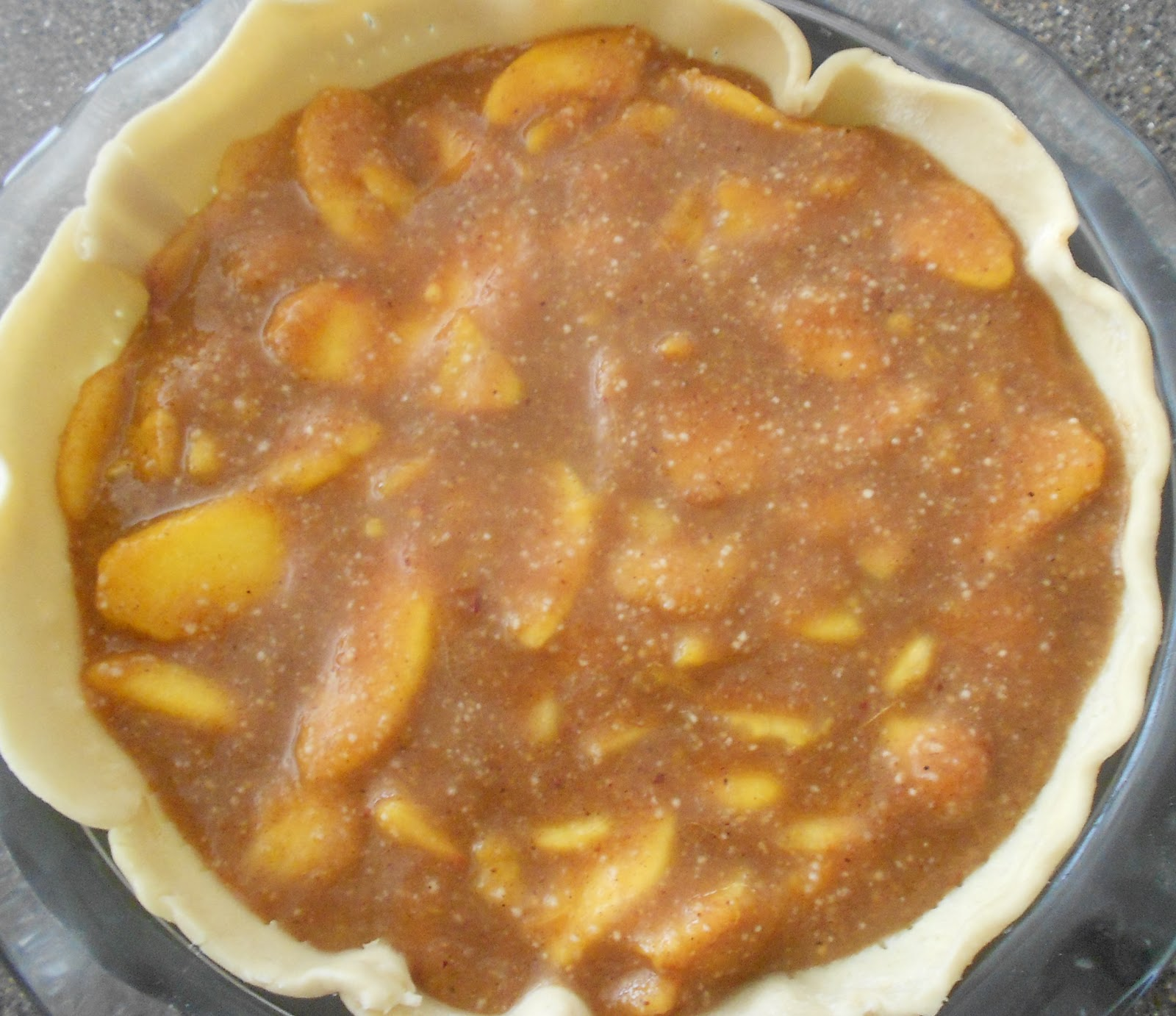 Baking Banquet: CARAMEL PEACH PIE (FRESH PEACH PIE VARIATION)