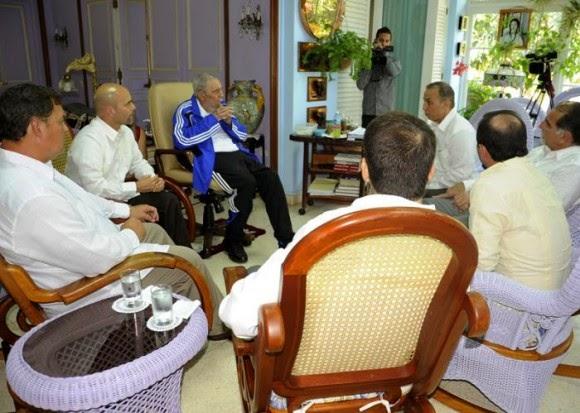 Encuentro de Fidel Castro con Los Cinco