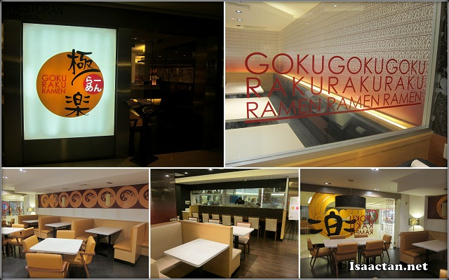 The interior of Goku Raku Ramen Midvalley Megamall