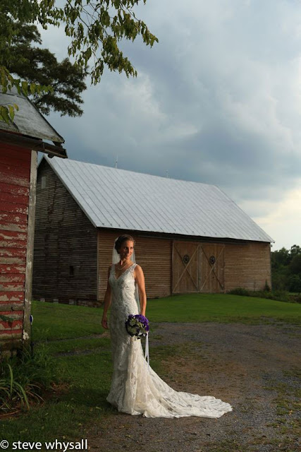 Virginia Farm Wedding Bridal Portrait