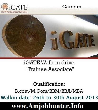 Igate walkin drive for Trainee Associates