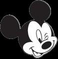 cara de Mickey mouse guiñando un ojo