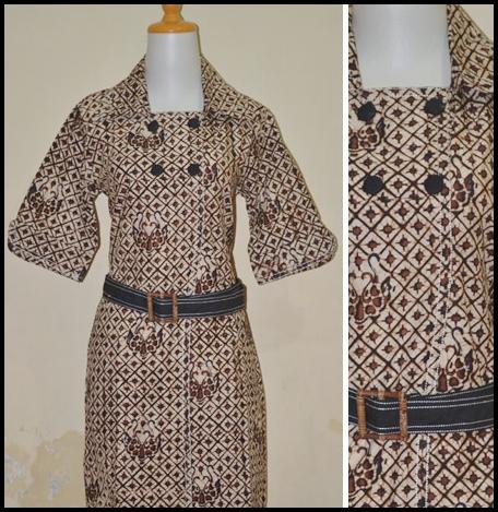 Model Baju Batik Kantor Modern