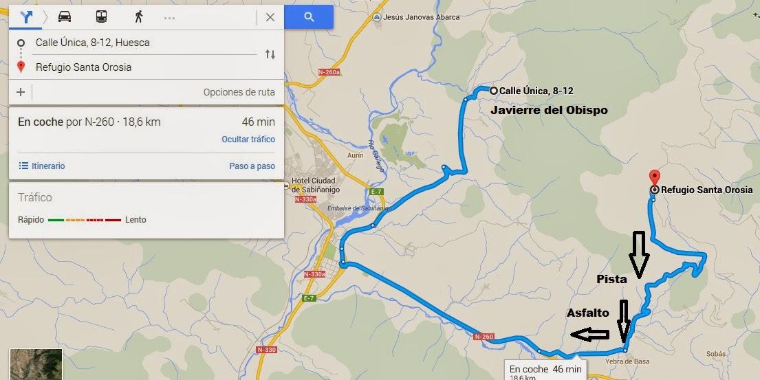 Subida a Sta Orosia para ver la carrera