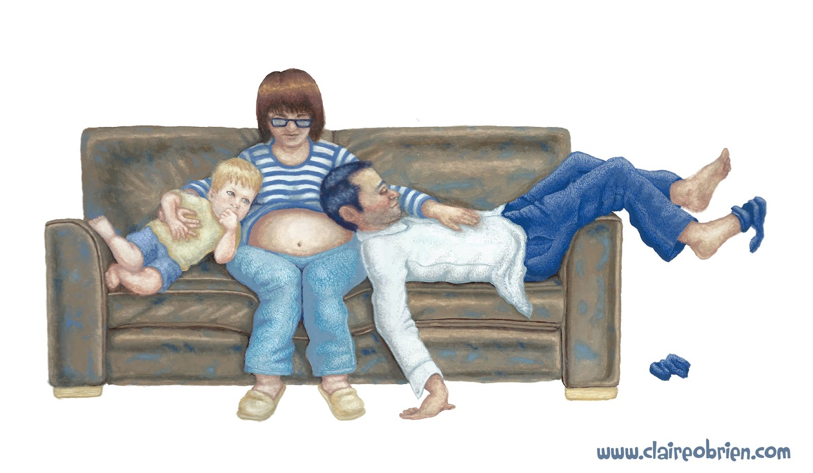 """The Four Seater"", Gouache by Claire O'Brien"