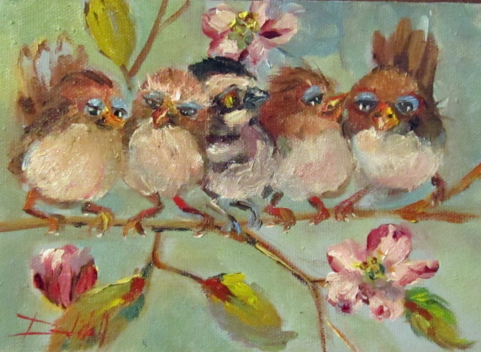 painting of the day daily oil paintings by delilah chubby spring