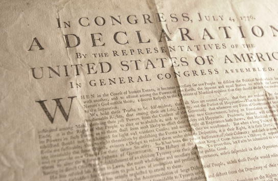 ... state arise the declaration of independence is inevitably drawn into
