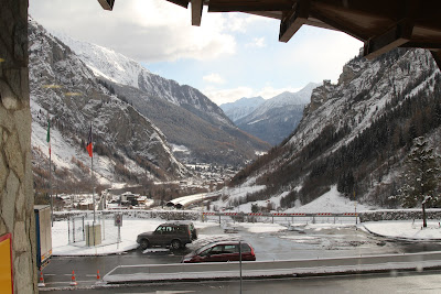 Courmayeur View from Mont Blanc Reststop