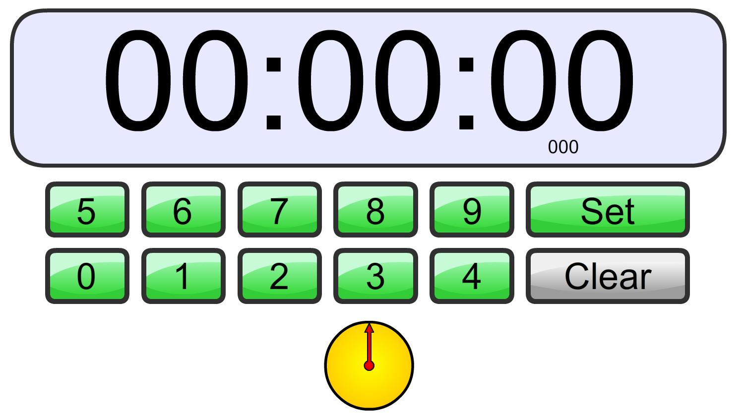 Once the time on the stopwatch