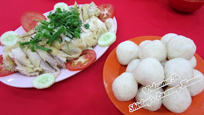 hainanese chicken and rice balls