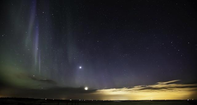 Aurora Boreal nos céus do Canadá