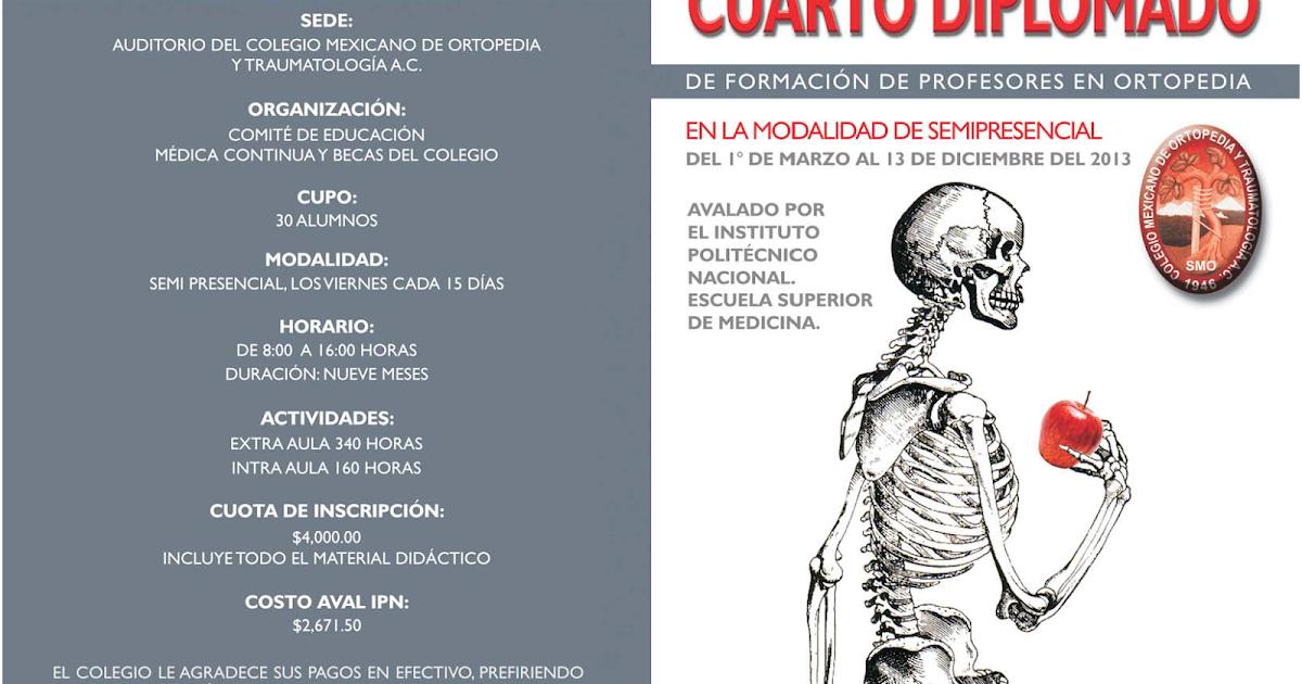 Colegio mexicano de ortopedia y traumatolog a cuarto for W de porter ortopedia