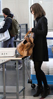 Keira Knightley at airport checkpoint