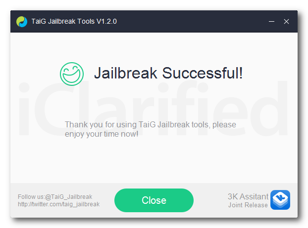 taig jailbreak sucses