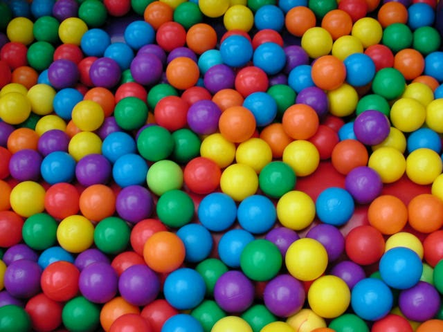 ball pit plastic balls photograph