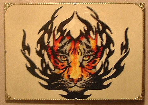 Janet and megans crafts glass painted tiger for Solvent based glass paint