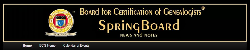 UpFront with NGS: BCG\'s New Blog: SpringBoard: News and Notes