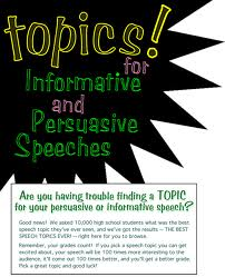 special speech topics