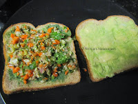 4 Mixed Vegetable Avocado Sandwich