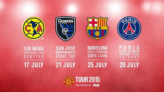 Jadwal Pertandingan Tur Pramusim Manchester United 2015