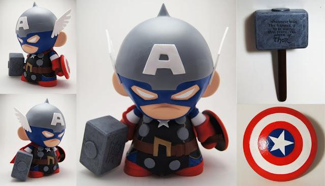 Captain America Thor Munny por xf4LL3n
