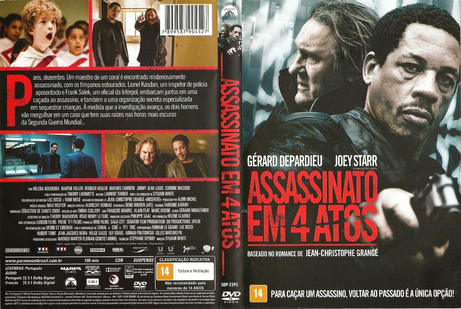 Capa DVD Assassinato Em 4 Atos