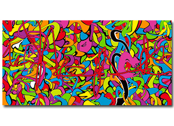 abstract, graffiti, urban art, art, multi coloured, large, canvas art,vibrant,