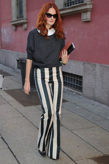 Street Style Trend Pointy Toe Pumps - �izgili Desenler �ok Moda